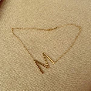"""Anthropologie initial necklace """"M"""""""